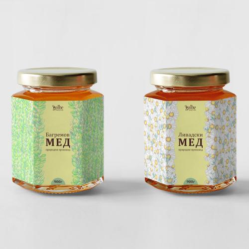 Honey jar label design