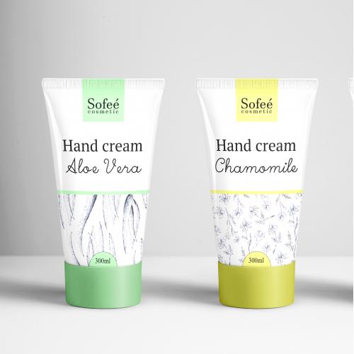 Hand cream label design