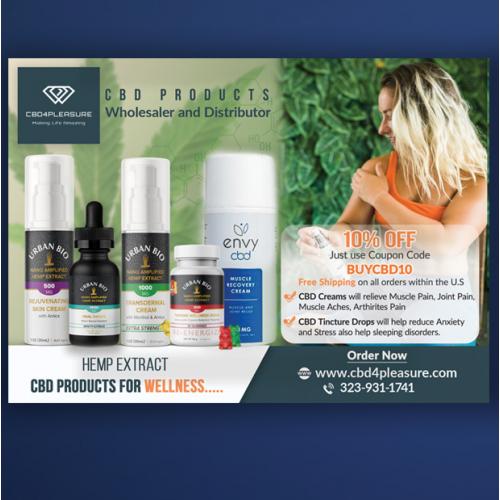 CBD product EDDM postcard