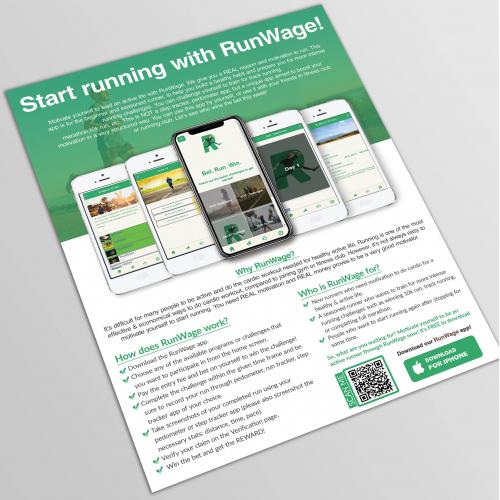 Mobile App promotion flyer