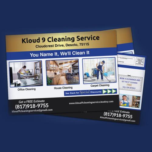 cleaning service EDDM postcards