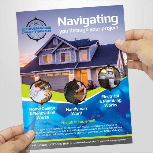 Construction Print flyer design