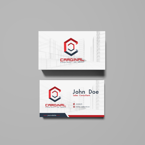 Construction Company Business Card