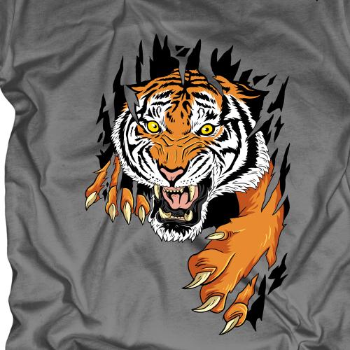 tiger claw t-shirt design