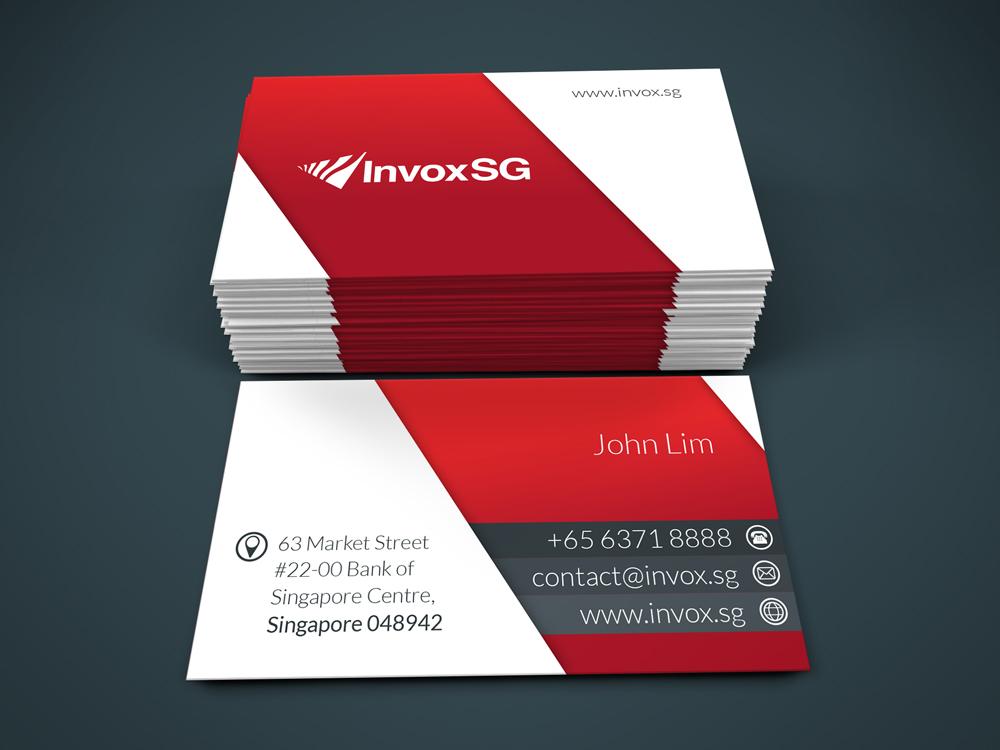 Financial Name Card Design