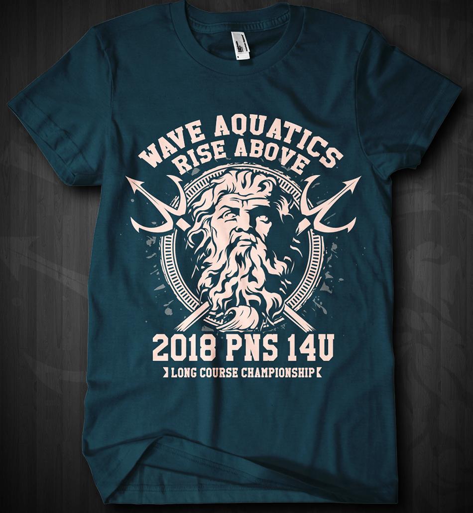 T-shirt Design for Wave Aquatics