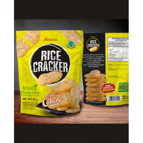 Rice Carckers Flavor American Cheese