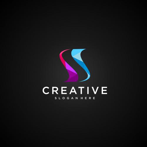 S elegant logo