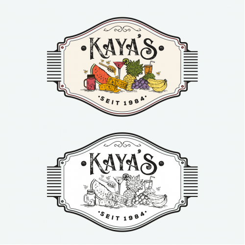 Vintage modern logo for Kaya\'s \
