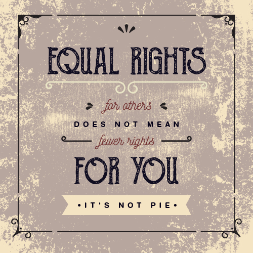 Equal rights are not pie - Poster design