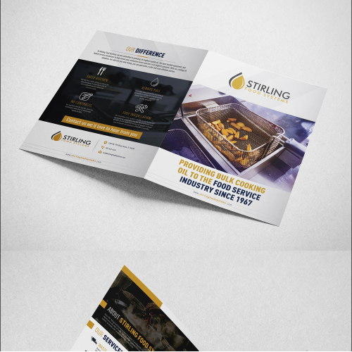 Bi-Fold Brochure Design for Food Sterling Systems