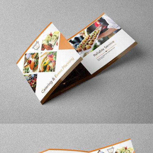 Tri-Fold Square Brochure Design for Catering Company