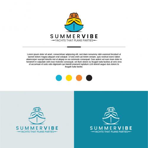 Summer Vibe Yacht Logo Design