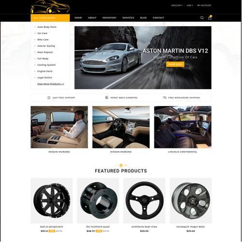 Car Parts Selling Website