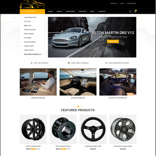 Car Parts Selling Website