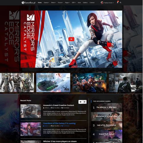 Gaming Website Design