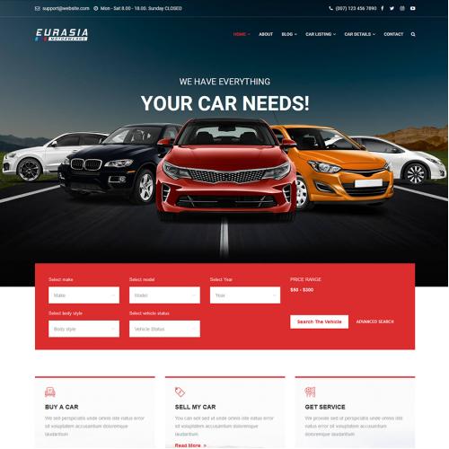 Car Selling Website Design
