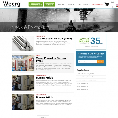 webpage restyling