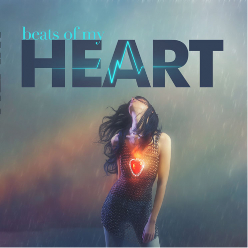 Beats of my heart book cover design