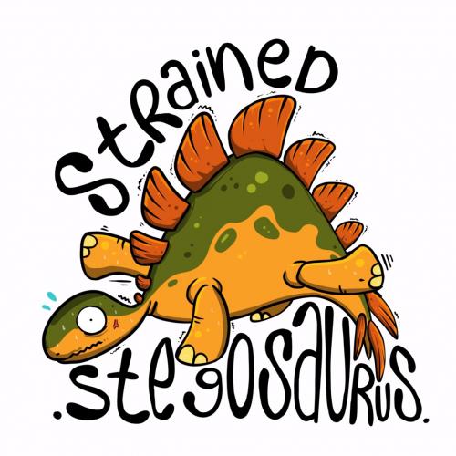 Strained stegosaurus