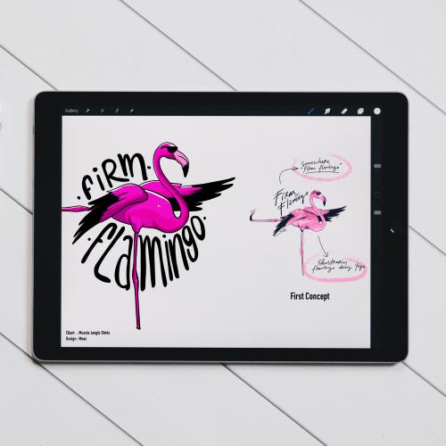 Firm Flamingo - Shirt Design