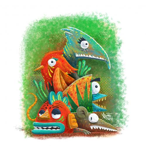 Dinosaurs Art Illustration