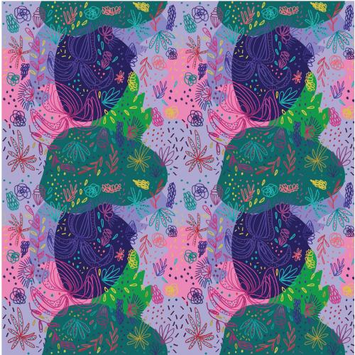 exotic flowers print