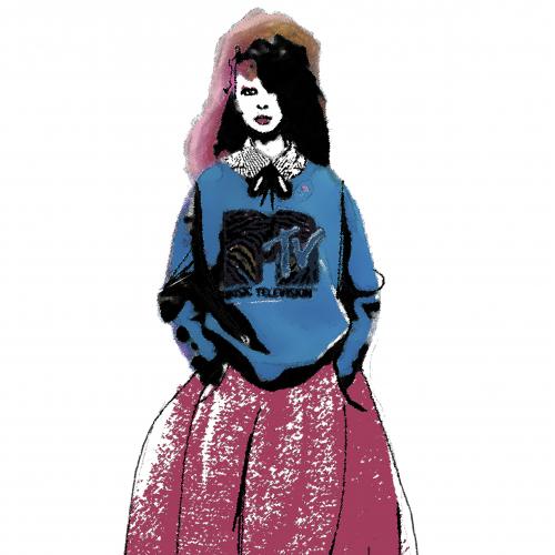 fashion illustration. digital