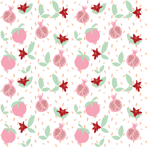 fruits print / pomegranate