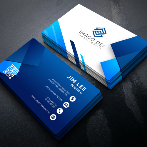 business card own design
