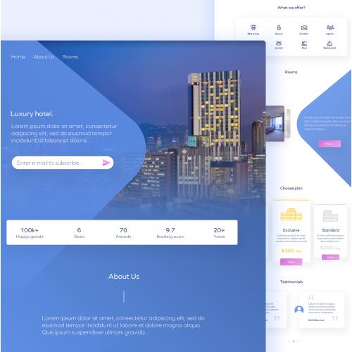 Luxury hotel template