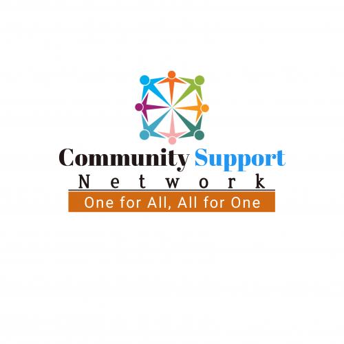 Community support network logo design