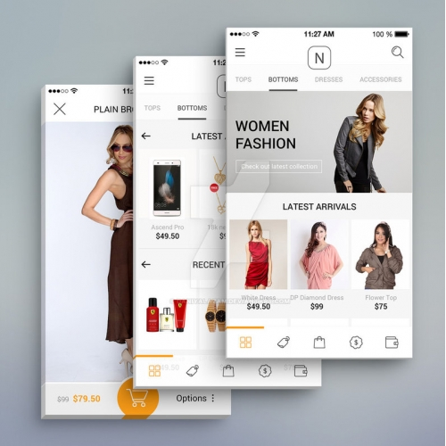 Fashion Brand online shop App design