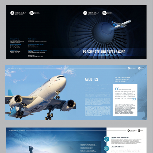 Aviation Leasing Company needs a powerful brochure