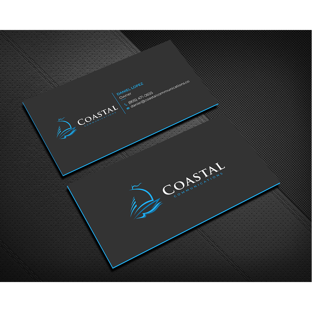 Design a powerful business card, modernize logo colors.