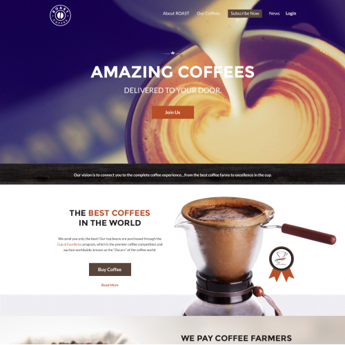 Website Design for Coffee Shop
