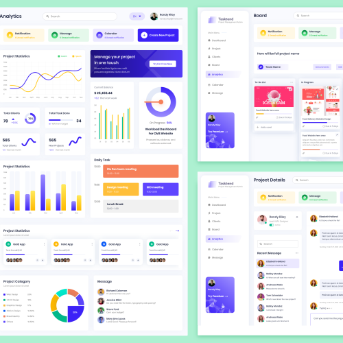Tasnd - Project Management Dashboard - Analytics