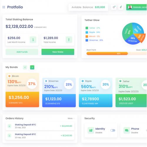 Crypto Wallet  Dashboard Design