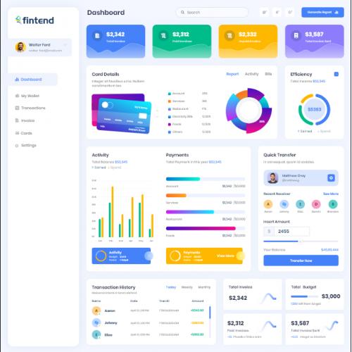 Fintech Dashboard Design