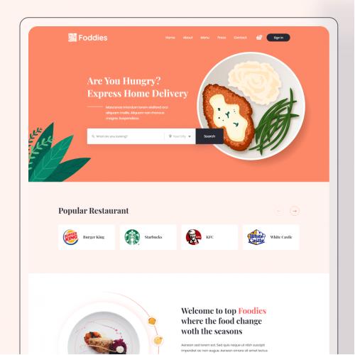 Foodies - Food delivery Website