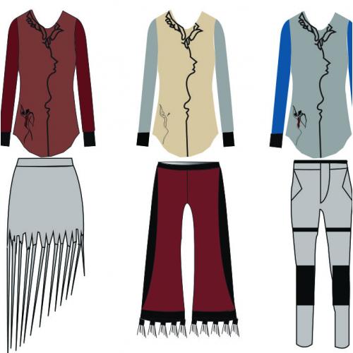 fashion dress illustration design