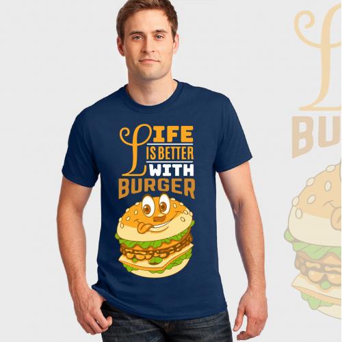 burger food and  drink t shirts design