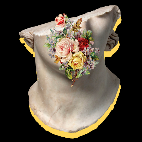 Bust w/Flowers Design