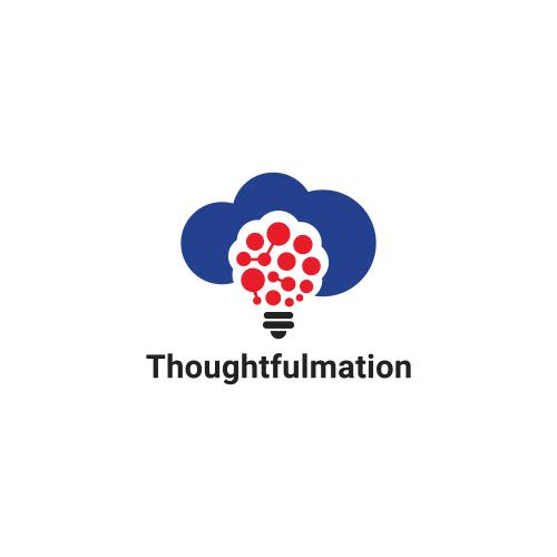 Thoughtfulmation Cloud Idea logo Design
