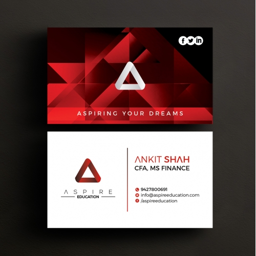 logo and business card design for aspire education
