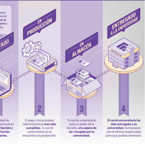 Infographic - Stages in the process to obtain your ID
