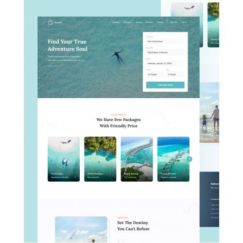 Travelo Website