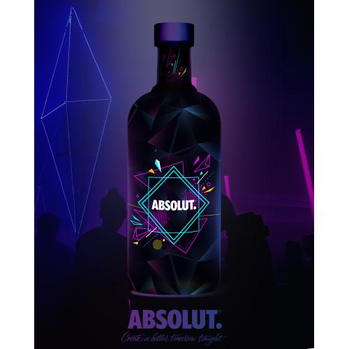 Absolut bottle design
