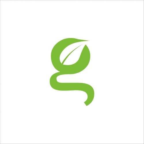 G typography Leaf