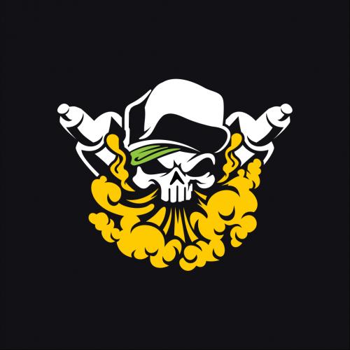 Skull Vaping Logo Design
